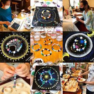 屋久杉富士溶岩ブレス作り体験+星の雫マンダラ祭壇ワークでの作品とマンティスさんのマンダラを公開