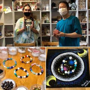 屋久杉富士溶岩ブレス作り体験+星の雫マンダラワーク後のKENとマンティスさんの対談を公開します