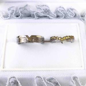 サファイア11粒&プラチナ製フルオーダーの結婚指輪が完成しました