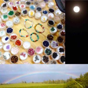 10月、11月、12月の屋久杉富士溶岩ブレスレット作り体験は月と虹がテーマ