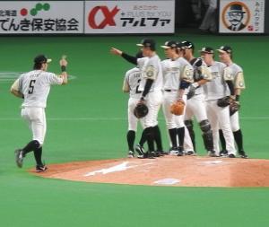 札幌ドーム、外野席が解放されました。