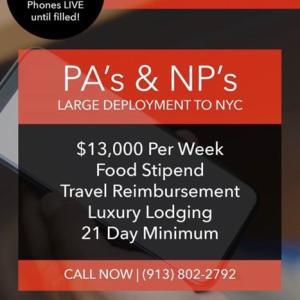 ナースのお給料が1週間70万円