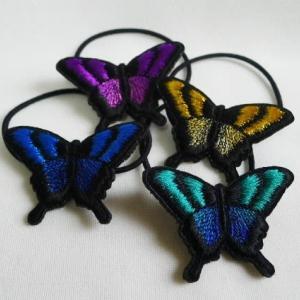 アゲハ蝶のヘアゴムアップ