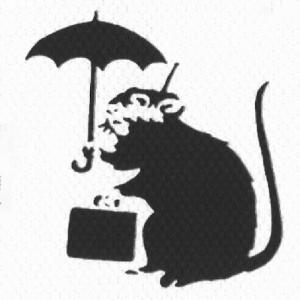 バンクシーの鼠