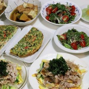 豚しゃぶと蒸し野菜のサラダ