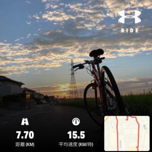 クロスバイクと朝
