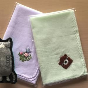 刺繍ガーゼハンカチ