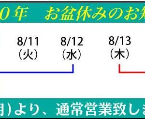 ☆☆☆2020年8月のキャンペーン ☆☆☆