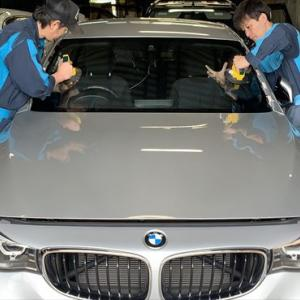 広島 自動車フロントガラス交換☆BMW 320i GT☆社外品フロントガラス