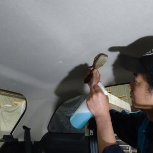 広島 車内クリーニング☆フィアット500☆タバコ臭クリーニング