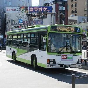 山梨交通42系統に乗る(甲府駅→上今諏訪)