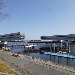首都高速1号線上りの旧羽田可動橋