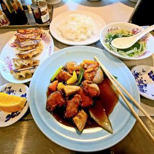 大龍飯店 酢豚と餃子