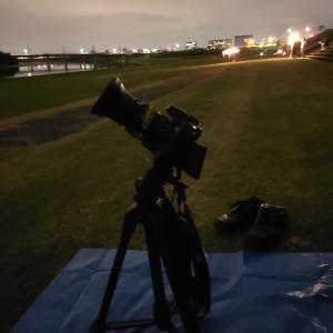 ペルセウス座流星群撮影ちゅー in  大和川河川敷