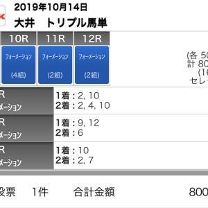 10/14(月)大井競馬の予想