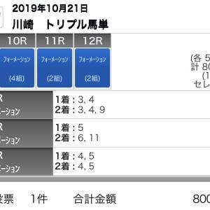 10/21(月)川崎競馬の予想
