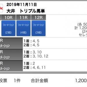 11/11(月)大井競馬の予想