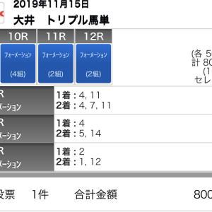 11/15(金)大井競馬の予想