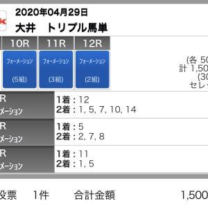 4/29(水)大井競馬の予想