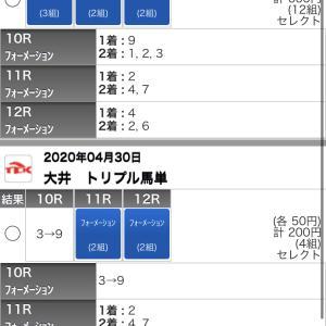 4/30(木)大井競馬の予想