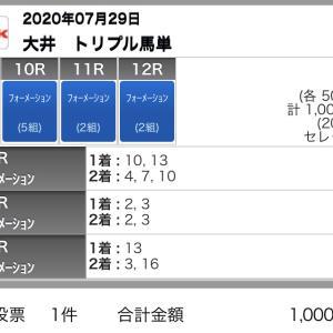 7/29(水)大井競馬の予想