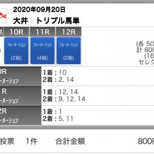 9/20(日)大井競馬の予想