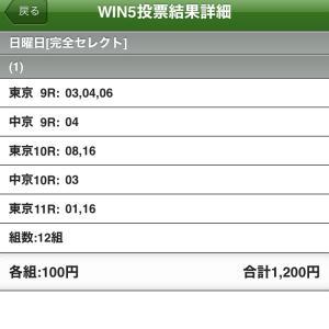 5/30(日)WIN5の予想