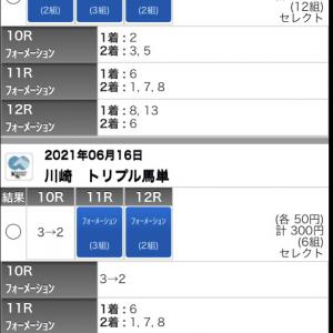 6/16(水)川崎競馬の予想