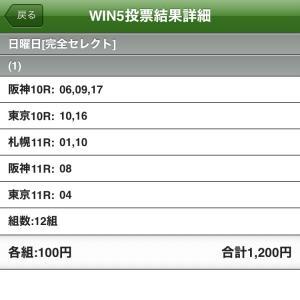 6/20(日)WIN5の予想