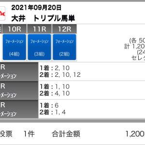 9/20(月)大井競馬の予想