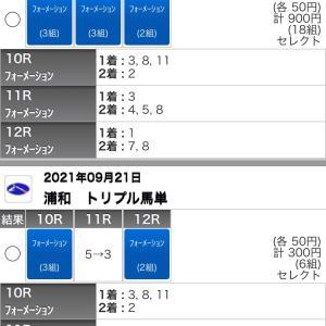 9/21(火)浦和競馬の予想