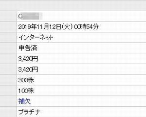 【IPO抽選!】 プラチナステージの結果は?