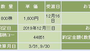 【複数当選!】 JTOWER(4488)の配分結果(^-^;