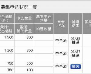 【抽選結果】 カーブスホールディングス(7085)