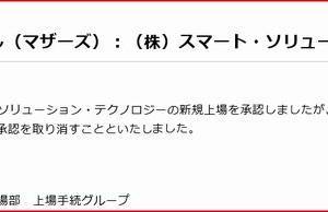 【IPO中止】スマート・ソリューション・テクノロジーの上場承認を取り消し!