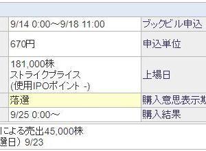 【IPO タスキ】 1.1億投入で・・・・