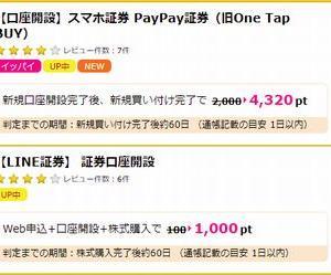 【5,320円相当GET!】 LINE証券とPayPay証券の口座開設で5,320円相当もらえます。