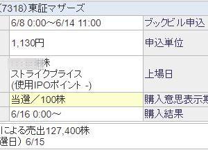 【IPO抽選!】 HCSホールディングス(4200) の 抽選結果