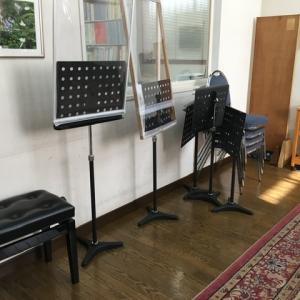 「街の小さな楽器屋さん」の練習室再び、そしてお店からの嬉しいメール!