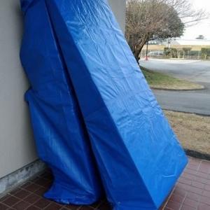 ブルーシートでスロープのカバーを作りました!