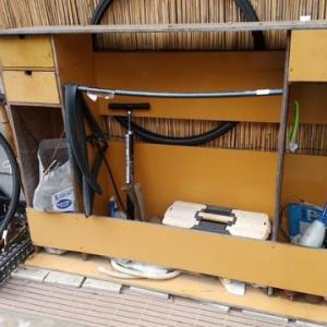 2代目自転車修理用具棚作成!