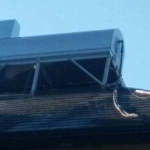 太陽熱温水器(天日)の水漏れ修理