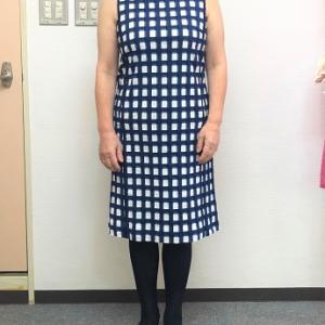 生徒作品NO.1390☆2年生コース 着やすい既製のワンピースをアレンジしながらコピー