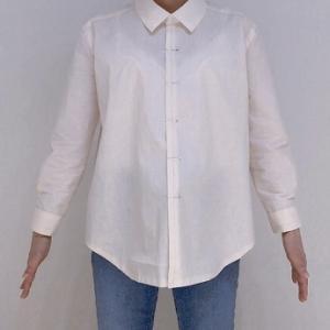 キレイめ・ゆったりめのシャツ 仮縫いを着てみました