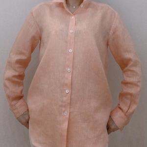 キレイめ・ゆったりめのカジュアルシャツ3枚目完成 サンフランシスコで購入した麻地で
