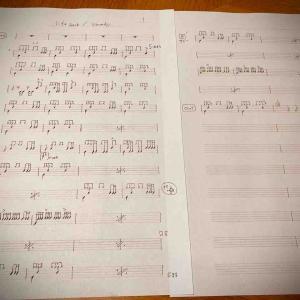 ドラム譜を写譜する