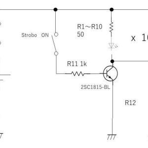 LEDでフラッシュの電気回路を考えてみる