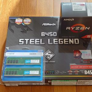PCを新しく組みなおししよう! Ryzen 5 5600X
