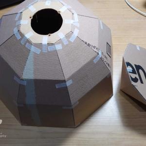 オパライト4号機 反射板の取り付けと折り畳み機構