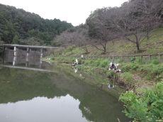 雨と凸を気にしながらの釣り@増沢池